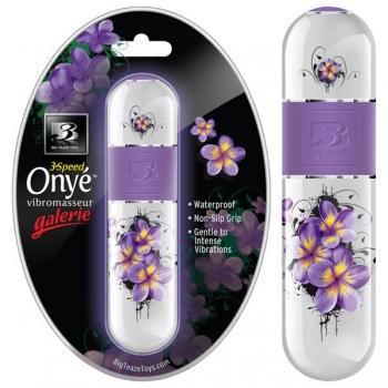 B3 Onye Galerie White Floral Vibrator