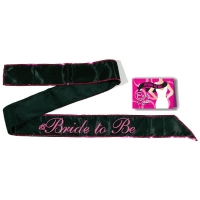 Bride To Be Black Sash
