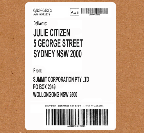 Discreet delivery labels