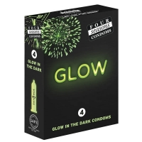 Four Seasons Glow In The Dark Regular Condoms 4 Pack