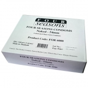 Four Seasons Naked Classic Regular Condoms 144 Pack