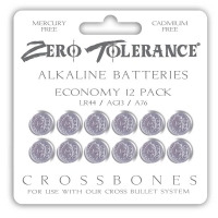 Crossbones LR44 Alkaline Batteries 12 Pack