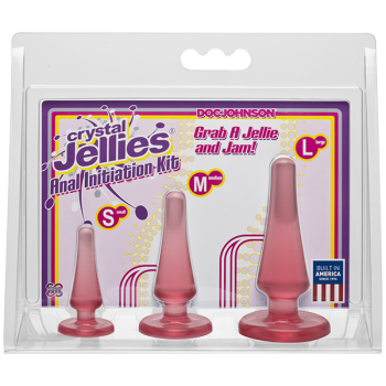 Crystal Jellies Pink Anal Initiation Kit