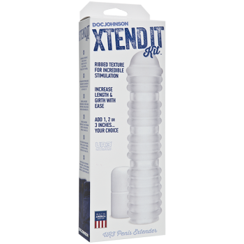 Xtend It Kit Frosted Ribbed Penis Extension Sleeve