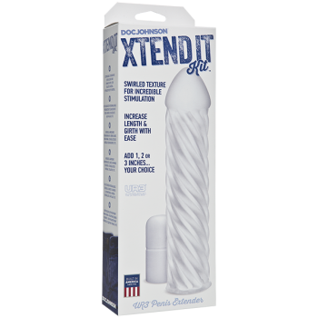 Xtend It Kit Frosted Swirled Penis Extension Sleeve