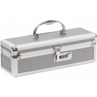 Lockable Medium Sex Toy Case Silver
