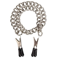 Cherry Banana Silver Nipple Clamps With Chain