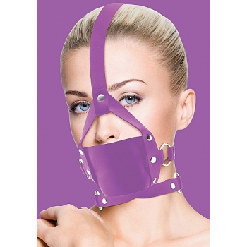 Ouch! Purple Leather Mouth Gag