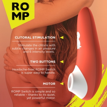 Romp Switch Rechargeable Clitoral Suction Vibrator