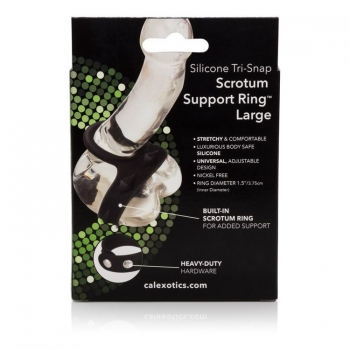 Silicone Tri-snap Scrotum Support Ring Large