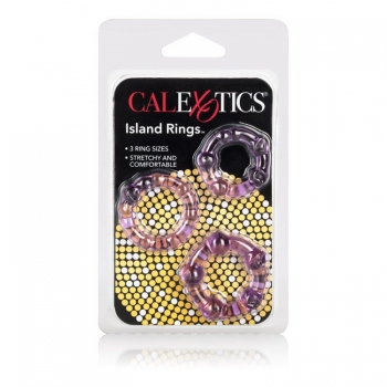 Island Rings Purple Cock Rings