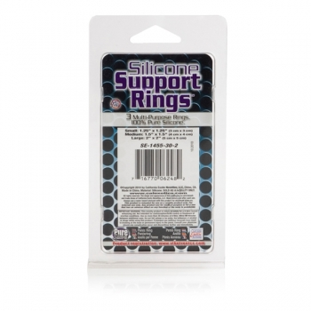 Silicone Support Rings Flesh Cock Rings 3 Pack