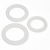 Clear Cock & Ball Rings 3 Pack