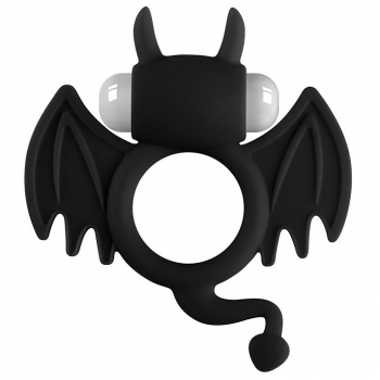 Cherry Banana Black Bat Vibrating Cock Ring