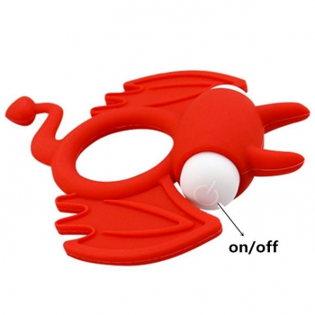 Cherry Banana Red Bat Vibrating Cock Ring