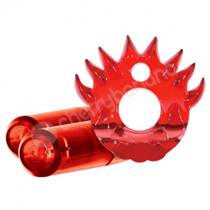 Crossbones The Flame Thrower Red Twin Bullet Cock Ring