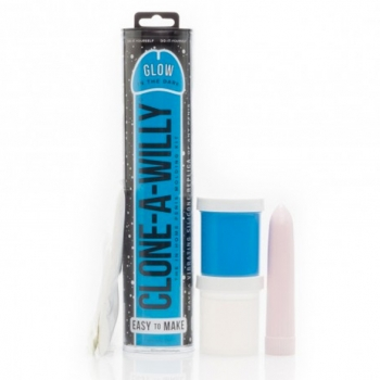 Clone-A-Willy Glow In The Dark Vibrator Moulding Kit Blue