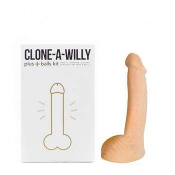 Clone-A-Willy Vibrator Moulding Kit With Balls Light