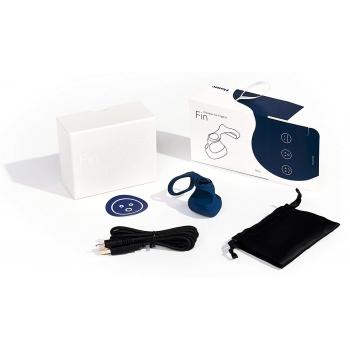 Dame Fin Blue Finger Vibrator