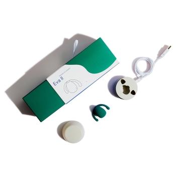 Dame Eva II Green Silicone Hands-Free Clitoral Vibrator