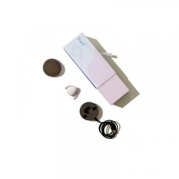 Dame Eva II White Silicone Hands-Free Clitoral Vibrator