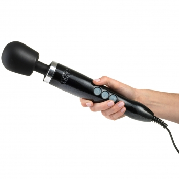 Doxy Die Cast Black Vibrating Massager Wand