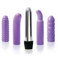 Purple Multi-sleeve Vibrator Kit