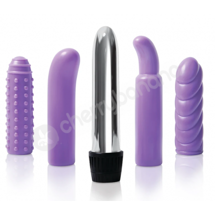 Purple Multi-sleeve Vibrator Kit