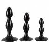 Frizz Black Butt Plug Set