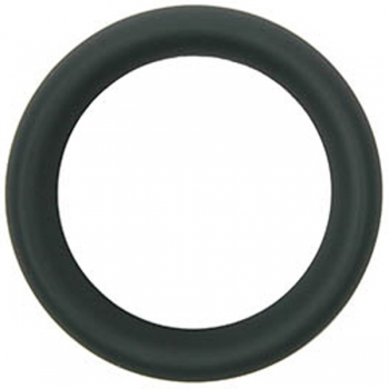 Hombre Snug Fit Black Silicone Cock Ring