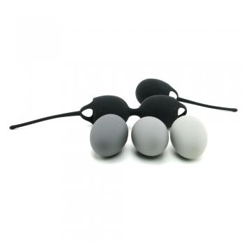 Velvet Plush The Ultimate Kegel Kit Black