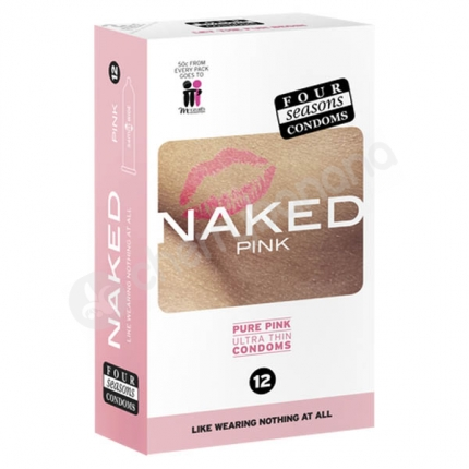 Four Seasons Naked Pure Pink Regular Condoms 12 Pack