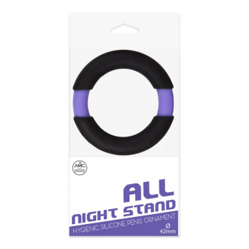 All Night Stand Black Cock Ring