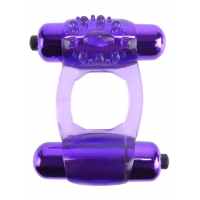 Fantasy C-ringz Purple Duo-Vibrating Super Cock Ring