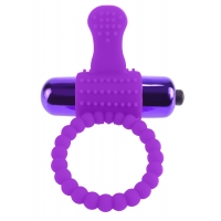 Fantasy C-ringz Purple Vibrating Silicone Super Ring
