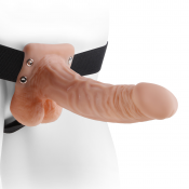 Fetish Fantasy Series Flesh 7'' Hollow Strap-on With Balls