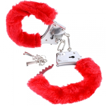 Fetish Fantasy Series Red Beginner's Furry Cuffs