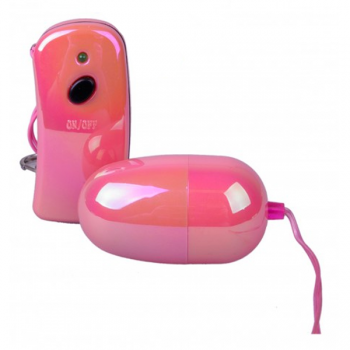 Pink Wireless Remote Controlled Vibrating Egg