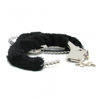 Ouch Black Pleasure Furry Legcuffs