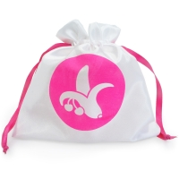 Cherry Banana Satin Storage Bag Small