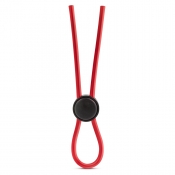 Stay Hard Red Silicone Loop Cock Ring