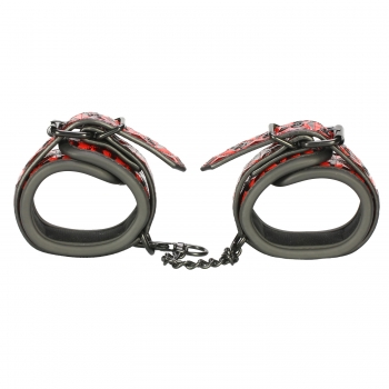 Cherry Banana Thrill Red Faux Leather Ankle Cuffs