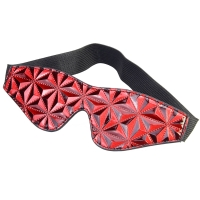 Cherry Banana Thrill Red Faux Leather Eye Mask