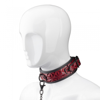 Cherry Banana Thrill Red Faux Leather Bondage Collar