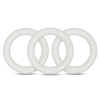 Performance VS2 Pure Premium Silicone White Cock Rings Small 3 Pack