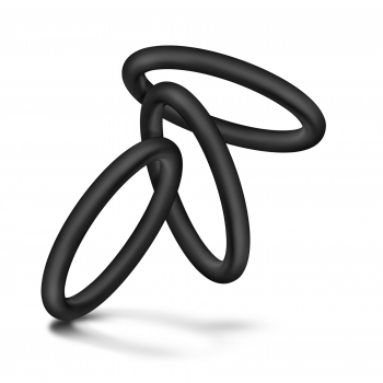 Performance VS3 Pure Premium Silicone Black Cock Rings Large 3 Pack