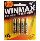 Winmax AAA Super Alkaline Sex Toy Batteries 4 Pack