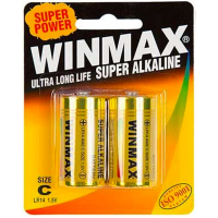 Winmax C Super Alkaline Sex Toy Batteries 2 Pack