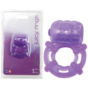 Climax Juicy Rings Purple Cock Ring