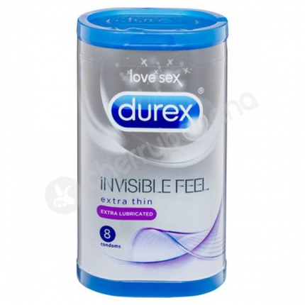 Durex Invisible Feel Condoms 8 Pack